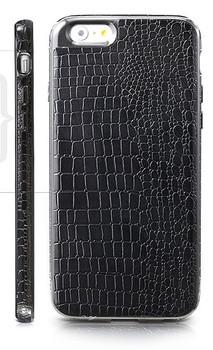 iPhone 6 6S Crocodile Style Case Black