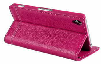 Sony Xperia Z3 Leather Wallet Cover Pink