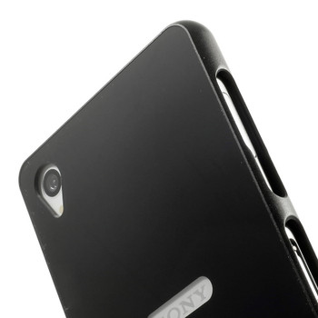 Sony Xperia Z3 Metal Bumper+Hard Back Cover Black