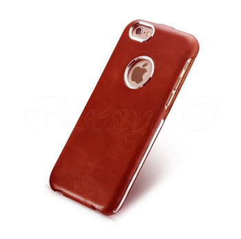iCarer iPhone 6 6S Vintage Leather Flip Case Red
