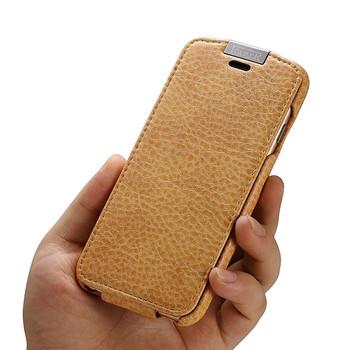 iCarer iPhone 6 6S Microfiber Leather Flip Case Brown