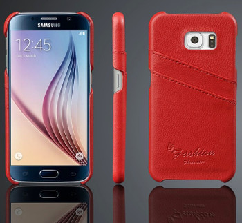 Samsung S6 red leather