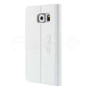 Samsung Galaxy S6 Genuine Leather Case White
