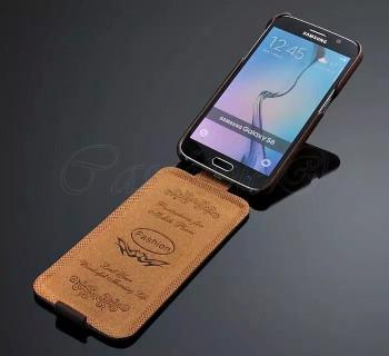 Samsung Galaxy S6 Leather Flip Case Brown
