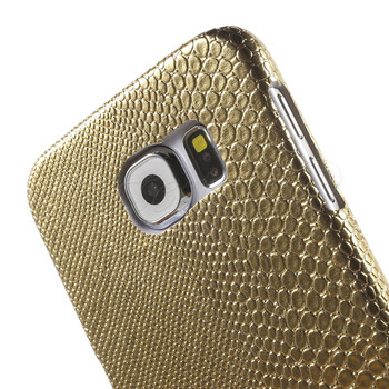 Samsung Galaxy S6 SnakeSkin Style Case Gold