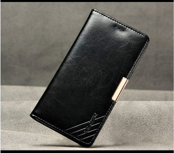 Sony Xperia Z3 Premium Leather Wallet Case Black