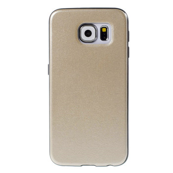 Samsung Galaxy S6 Black Bumper Case Gold