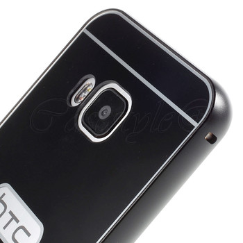 HTC One M9 Aluminum Bumper+Hard Back Case Black