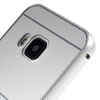 HTC One M9 Aluminum Bumper+Hard Back Case Silver