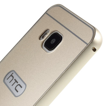 HTC One M9 Aluminum Bumper+Hard Back Case Gold