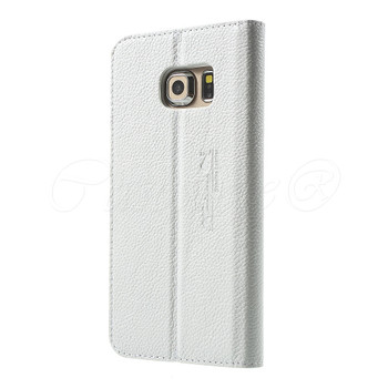 Samsung Galaxy S6 EDGE Genuine Leather Case White
