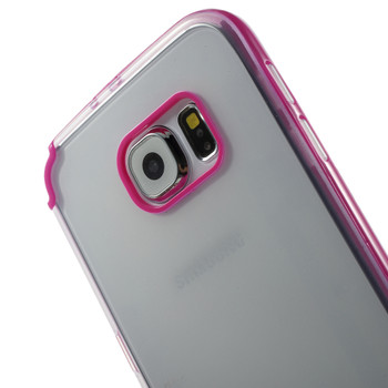 Samsung Galaxy S6 Pink Bumper Clear Back