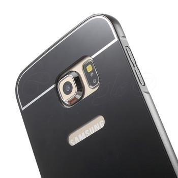 Samsung Galaxy S6 EDGE Aluminum Bumper Hard Cover Black