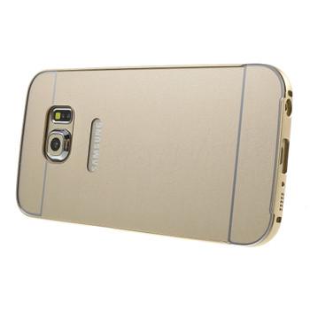 Samsung Galaxy S6 EDGE Aluminum Bumper Hard Cover Gold