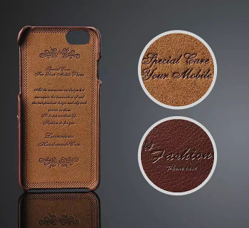 iPhone 6 6S Genuine Leather Back Case Brown
