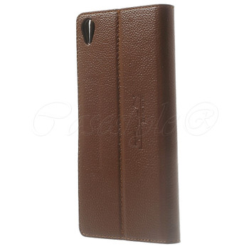 Sony Xperia Z3+ Plus Leather Case Brown