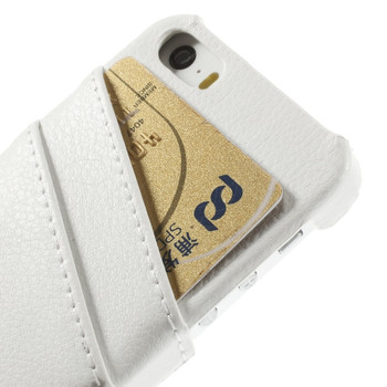 iPhone 5 5S Genuine Leather Back Cover White