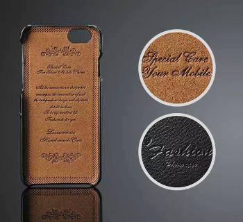 iPhone 6+6S PLUS Genuine Leather Card Case Black