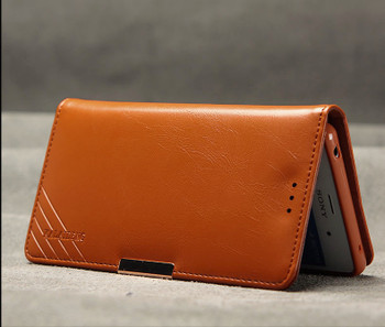 Sony Xperia Z3+Plus Luxury Leather Wallet Cover Brown