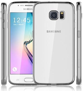 Samsung Galaxy S6 Grey Bumper Clear Back