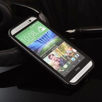 HTC One M8 Metal Bumper+Hard Back Cover Black