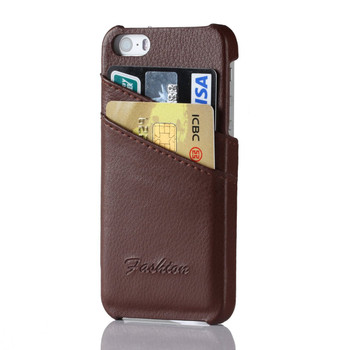 iPhone 5C Genuine Leather Back Case Brown