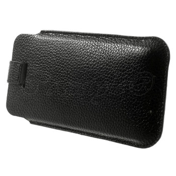 iPod Touch 6/5 Genuine Leather Pouch Case Black