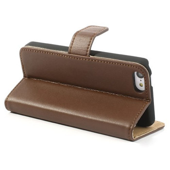 iPhone 5 5S Leather Wallet Brown