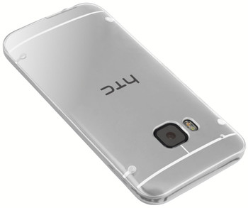 HTC One M9 White Bumper Clear Back