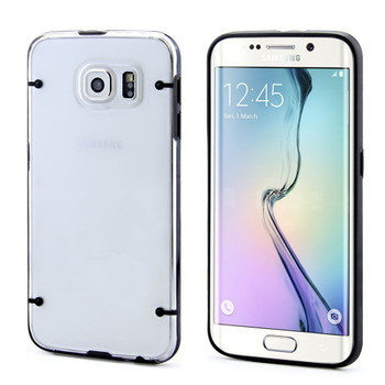 Samsung S6 EDGE+PLUS Black Bumper Clear Back