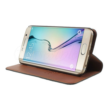 Samsung Galaxy S6 EDGE PLUS Genuine Leather Case Black