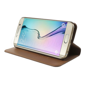 Samsung Galaxy S6 EDGE PLUS Genuine Leather Case Brown