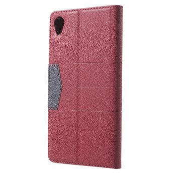 Sony Xperia Z5 Wallet Case Red