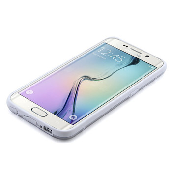 Samsung S6 EDGE+PLUS White Bumper Clear Back