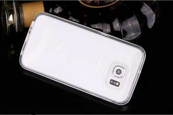 Samsung S6 Aluminum Bumper Silver+Transparent Back