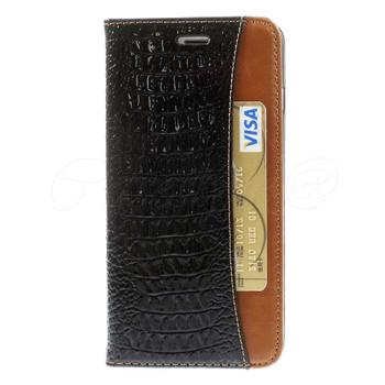 iPhone 6 6S Crocodile Wallet Case Black