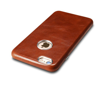 """iCarer iPhone 6/6S+""""PLUS"""" Vintage Leather Back Cover Brown"""