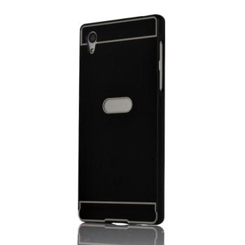 Sony Xperia Z5 Metal Bumper Case+Hard Back Black