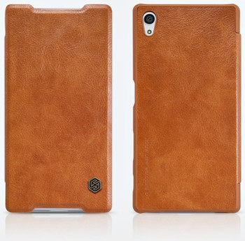Nillkin Sony Xperia Z5 Qin Leather Case Brown
