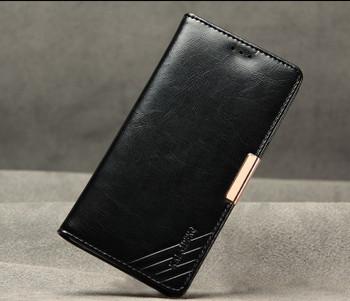 Sony Xperia Z5 Luxury Leather Wallet Case Black