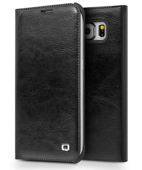Qialino Samsung S6 Edge+PLUS Leather Wallet Case Black