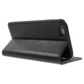 "iPhone 6/6S+""PLUS"" Genuine Leather Booklet Cover Black"
