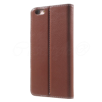 "iPhone 6/6S+""PLUS"" Genuine Leather Booklet Cover Brown"