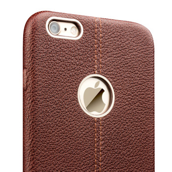 Qialino iPhone 6 6S Leather Back Cover Tuscany Brown