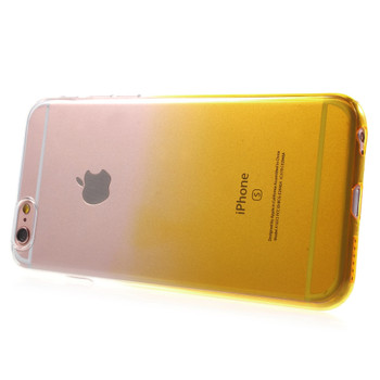 iPhone 6 6S Silicone Case Clear Yellow