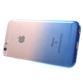 iPhone 6 6S Silicone Case Clear Blue