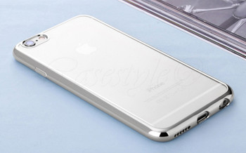 iPhone 6S 6 Bumper Cover Silver Clear Back