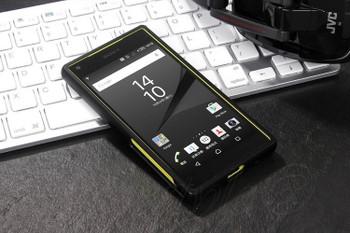 Sony Z5 Compact Metal Bumper Case Hard Back Black