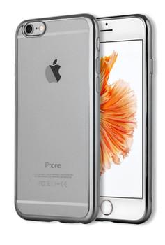 iPhone 6S+6 PLUS Bumper Cover Black Transparent