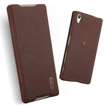 Sony Xperia Z5 Premium 4K Leather Slim Cover Coffee
